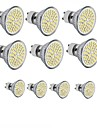 GU10 GU5.3(MR16) E26/E27 Spot LED MR16 60SMD SMD 2835 300 - 400LM lm Blanc Chaud Blanc Froid Decorative AC 110-130 AC 100-240 DC 12 V10