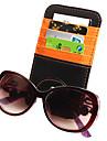 microfiber läder multifunktionella solskyddskräm glasögon klipp gem kort mappar visitkortshållare
