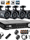 Ultra Low Price 4 Chanel H.264 CCTV DVR Kit with  4 Night Vision CMOS Cameras