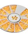 1pcs round bowl orange yellow rhinestones-Strass / Bijoux pour ongles / Paillettes & Poudre / Autre decorations-Doigt / Orteil / Autre- en
