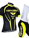 KEIYUEM® Maillot et Cuissard a Bretelles de Cyclisme Femme / Homme / Unisexe Manches courtes VeloRespirable / Sechage rapide / Resistant