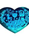 bluezoo kärlek blå nagel konst stämpling (25)
