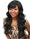 värmebeständiga billig falska hår peruk 22inch långa svarta syntetiska peruker för kvinnor