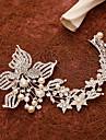 Femei Perle Ștras Aliaj Diadema-Nuntă Ocazie specială Flori Clipuri de Păr 1 Bucată