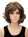 couleur brun clair perruques synthetiques boucles courts de femme