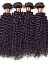 """4st / lot 8 """"-30"""" peruanska jungfru hår kinky lockigt peruanska lockiga jungfru hår mänskliga hårförlängningar väva buntar"""