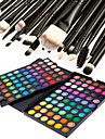 120 Farben professionelle blendend matt&Schimmer 3in1 Lidschatten Make-up Kosmetik-Palette mit 20 Lidschatten-Pinsel-Set