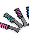 (En uppsättning fyra färg) semi permanent hårfärg krita pulver med kam hög kvalitet tillfälligt blått hår mascara multi färgämne