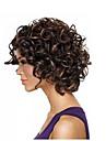 cheveux afro courte perruque frisee crepue africain fibre de perruques americain de couleur brun fonce