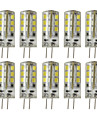 5W G4 LED a Double Broches T 24 SMD 2835 450 lm Blanc Chaud / Blanc Froid Decorative DC 12 V 10 pieces
