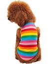 Katter / Hundar T-shirt Regnbåge Hundkläder Sommar / Vår/Höst Stribet Mode