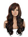 qualite superieure ombre noire perruque brune couleur taille longue cheveux boucles ondules perruque synthetique