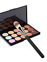 15 Correcteur/Contour+Correcteur+Bases pour Levres+Pinceaux de Maquillage Humide VisageCouverture Correcteur Tonalite Inegale de la Peau