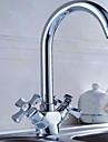 svängbar pip fåfänga diskbänk blandare två handtag köksblandare badrum tvättställsblandare