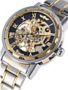 WINNER® Men's Watch Automatic Self-winding Hollow Engraving Mechanical Golden Skeleton Stainless Steel Cool Watch Unique Watch Fashion Watch