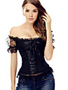 New Bowknots Sweetheart Burlesque Lace Up black Girl Corset