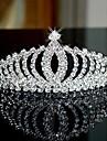 Vrouwen Bergkristal Licht Metaal Helm-Bruiloft Speciale gelegenheden Tiara\'s Hoofdbanden 1 Stuk
