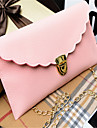 Women PU Casual Clutch / Evening Bag White / Pink / Blue / Black / Fuchsia