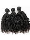 3pcs / lot brasilianska jungfru hår afro kinky lockigt mänskliga hårförlängningar naturligt svart 8 \'\' - 30 \'\' människohår väver
