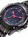 NAVIFORCE Bărbați Ceas Sport LCD Calendar Rezistent la Apă Zone Duale de Timp alarmă Luminos Cronometru Quartz Quartz JaponezOțel