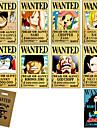 Mai multe accesorii Inspirat de One Piece Monkey D. Luffy Anime Accesorii Cosplay Card Galben Hârtie Bărbătesc / Feminin
