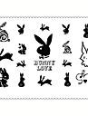 5 Tatouages Autocollants Series bijoux Series animales Series de fleur Series de totem Autres Dessins AnimesNon Toxique Motif Impermeable