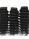Human Hår vävar Indiskt hår Stora vågor 4 delar hår väver