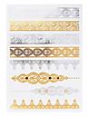 Smyckeserier Guld Papper tatuering tillförsel komplett pappers tatuering stencil