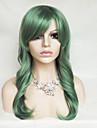 couleur verte perruque cosplay 26 pouces haute temperature cheveux boucles perruque de soie
