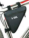 B-SOUL® Sac de VeloSac de cadre de velo Zip etanche Vestimentaire Resistant a l\'humidite Resistant aux Chocs Sac de CyclismePolyester PVC