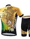 KEIYUEM® Maillot et Cuissard de Cyclisme Unisexe Manches courtes VeloEtanche / Respirable / Sechage rapide / Design Anatomique / Zip
