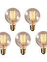 5pcs g95 40w ampoule edison cru ampoule retro lampe a incandescence e27 (220-240V)