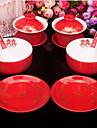 skålen kostym bröllop eller skål med röda porslin drake och Phoenix kopp skål slev maträtt