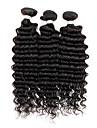 3 Pieces Ondulation profonde Tissages de cheveux humains Cheveux Indiens Tissages de cheveux humains Ondulation profonde