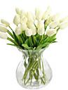 1 Une succursale Soie Polyurethane Tulipes Fleur de Table Fleurs artificielles