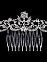 Femei Perle Ștras Cristal Aliaj Diadema-Nuntă Ocazie specială Informal Piepteni de Păr 1 Bucată