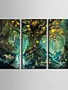 Landskap Moderna Europeisk Stil,Tre paneler Kanvas Vertikal Tryck väggdekor For Hem-dekoration