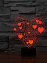 3d conduit en forme de coeur d\'amour de lampe vacances romantiques nuit coloree nuit LightColor-lumiere changeante