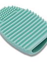 silicone pratiques pinceaux de maquillage brosse de nettoyage de l\'outil oeuf