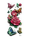 1 Tatueringsklistermärken Djurserier Blomserier Ogiftig Mönster Vattentät 3DDam Vuxen Blixttatuering tillfälliga tatueringar