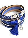 Brățări Bratari Wrap Piele  Round Shape La modă Petrecere / Zilnic Bijuterii Cadou Galben / Roșu / Albastru / Maro / Gri,1 buc