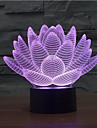 fleur de lotus touche gradation 3d conduit de lumiere de nuit lampe atmosphere decoration 7colorful eclairage nouveaute lumiere de Noel