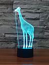 girafe tactile gradation 3d conduit de lumiere de nuit lampe atmosphere decoration 7colorful eclairage nouveaute lumiere de Noel