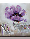 Pictat manual Abstract / Floral/Botanic Picturi de ulei,Modern Un Panou Canava Hang-pictate pictură în ulei For Pagina de decorare