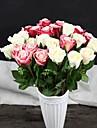 1 1 Une succursale Polyester / Plastique Roses Fleur de Table Fleurs artificielles 18.5inch/47cm