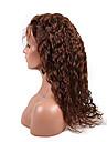 evawigs 10-26 pouces 4 # moyenne couleur brune lache boucles peruvian vierge cheveux humains pleine perruque de dentelle avec des cheveux