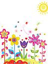Floral Stickers muraux Stickers avion Stickers muraux decoratifs,PVC Materiel Amovible Decoration d\'interieur Wall Decal