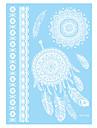 1 Tatouages Autocollants Series bijoux Non Toxic / Motif / Waterproof / Henne / MariageHomme / Adulte flash Tattoo Tatouages temporaires