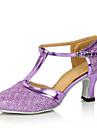 Chaussures de danse(Noir / Bleu / Marron / Violet / Gris / Or / Fuchsia) -Personnalisables-Talon Personnalise-Paillette Brillante-Moderne