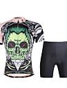 PALADIN® Maillot et Cuissard de Cyclisme Homme Manches courtes VeloRespirable / Sechage rapide / Resistant aux ultraviolets / Compression